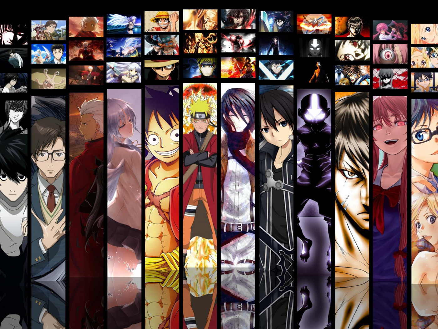 Download wallpaper game, Death Note, Naruto, Anime, Fate