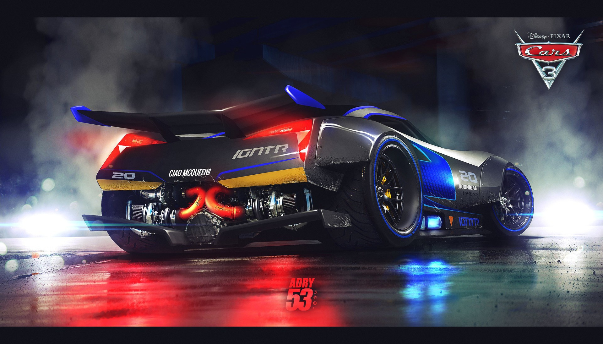 Download Wallpaper Cars Animated Movie Speed Cars 3