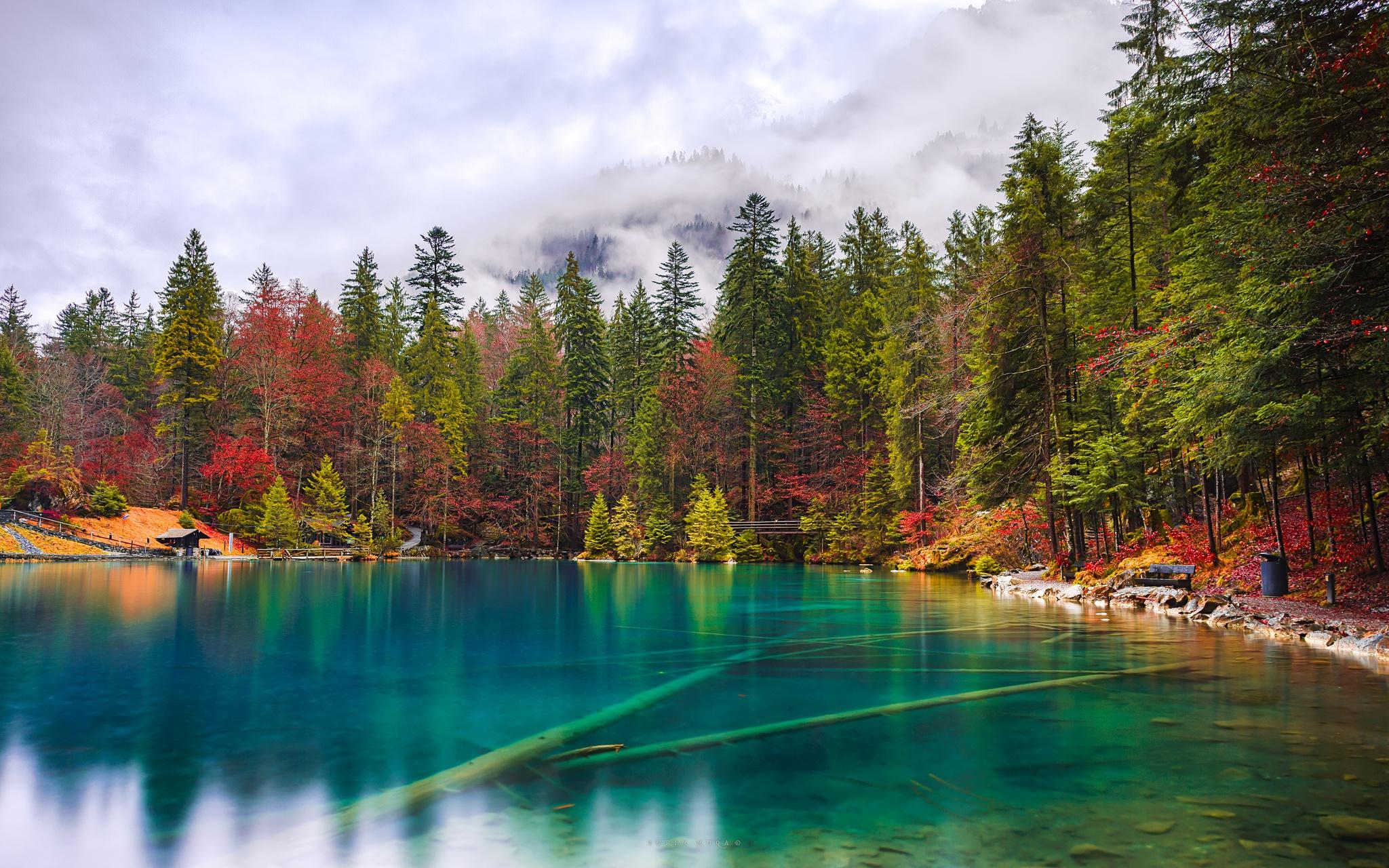 вода озеро осень water the lake autumn  № 1156048 бесплатно