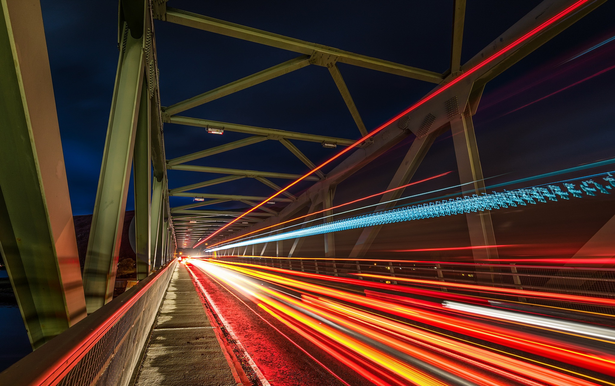 Мост огни ночь  № 3716533 загрузить
