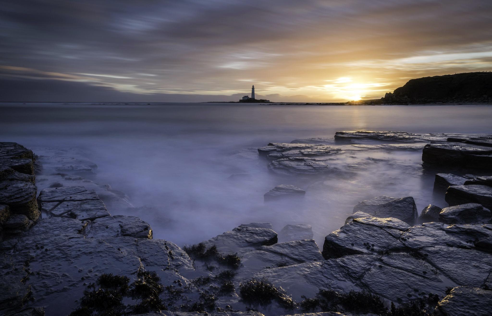 маяк море берег lighthouse sea shore  № 2220770 загрузить