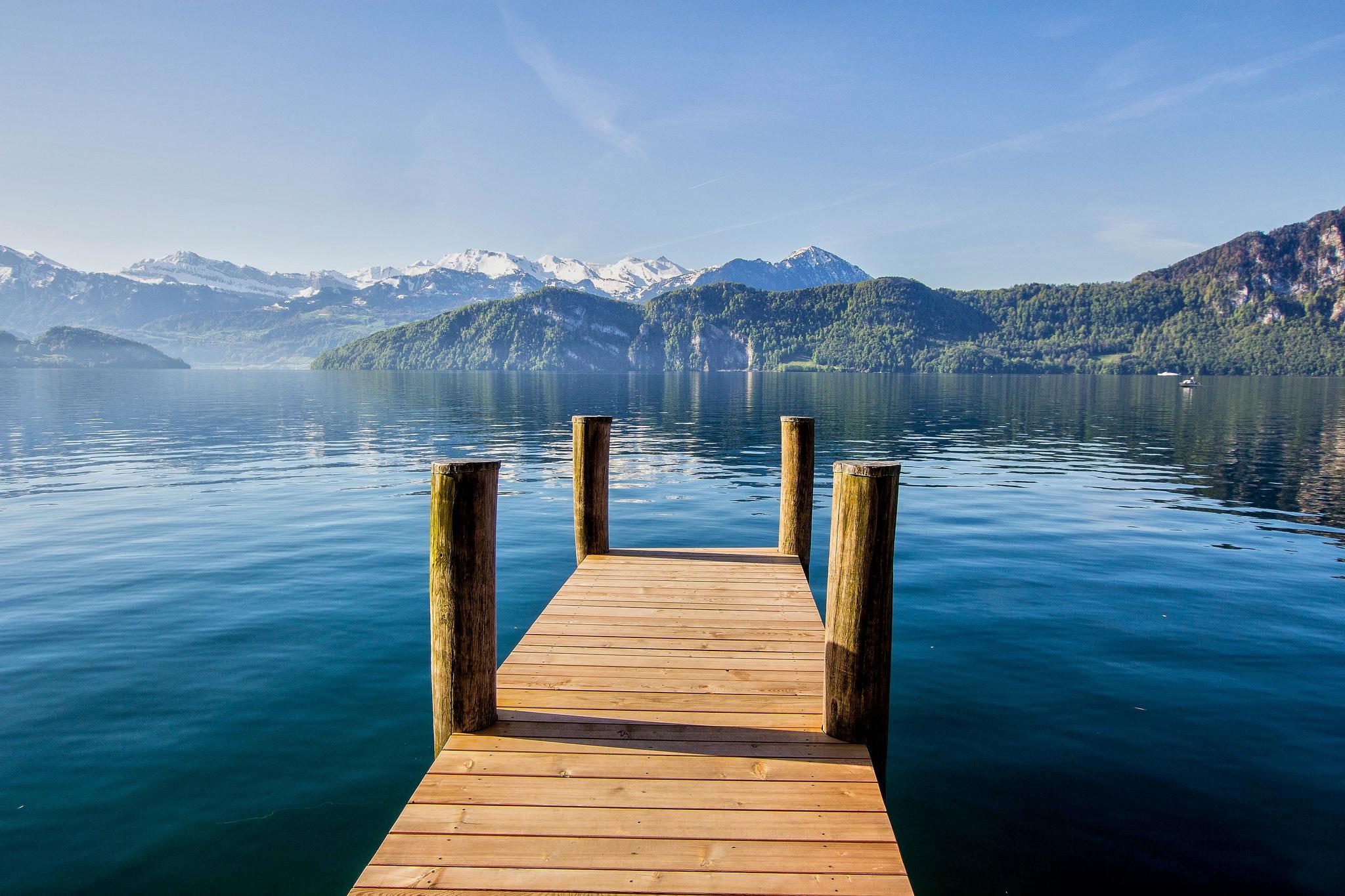 Chapel Bridge, Lucerne, Switzerland  № 1473327 загрузить