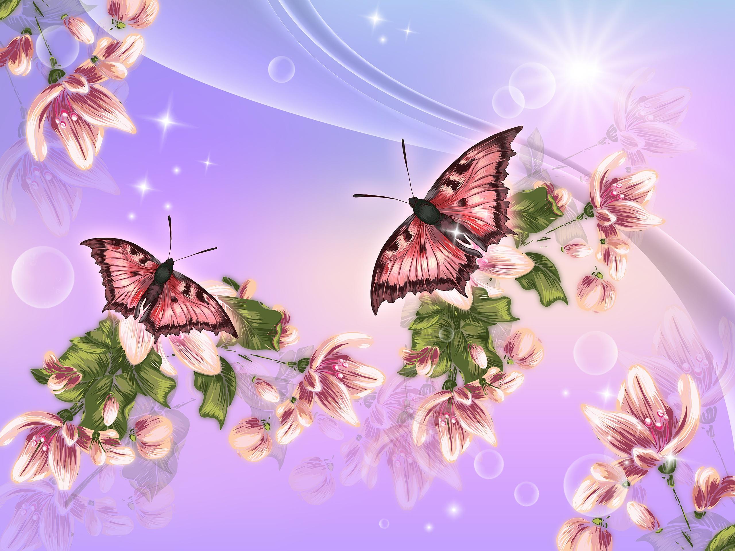 Открытки с рисунками бабочек