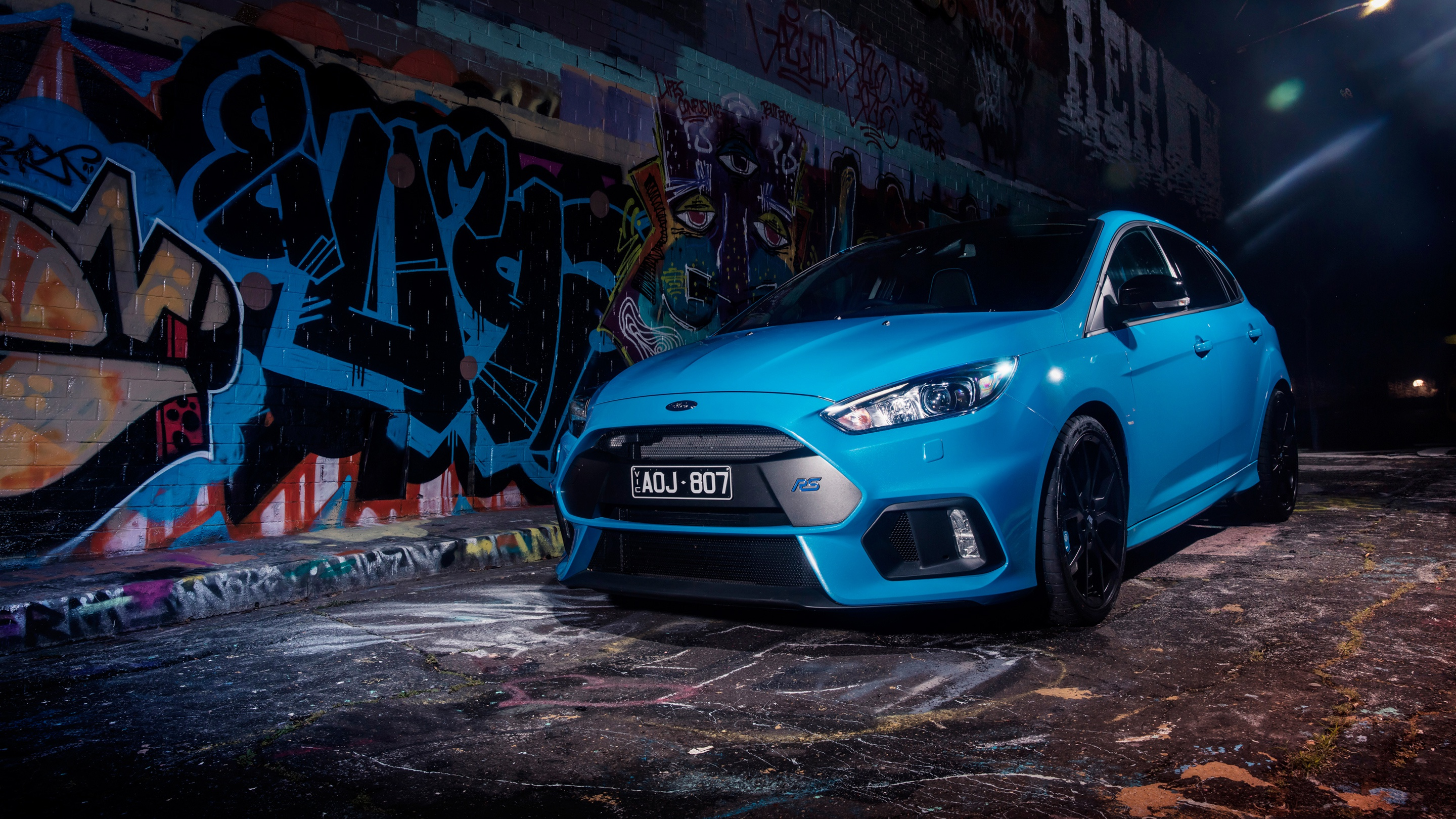 синий автомобиль ford focus rs  № 215523 без смс