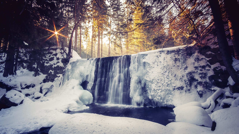 Зимний водопад  № 2946878 загрузить