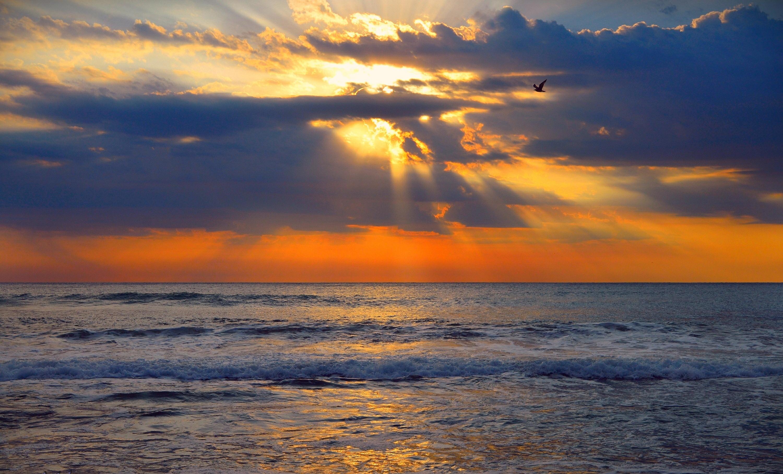 природа море горизонт небо закат  № 2493769 без смс