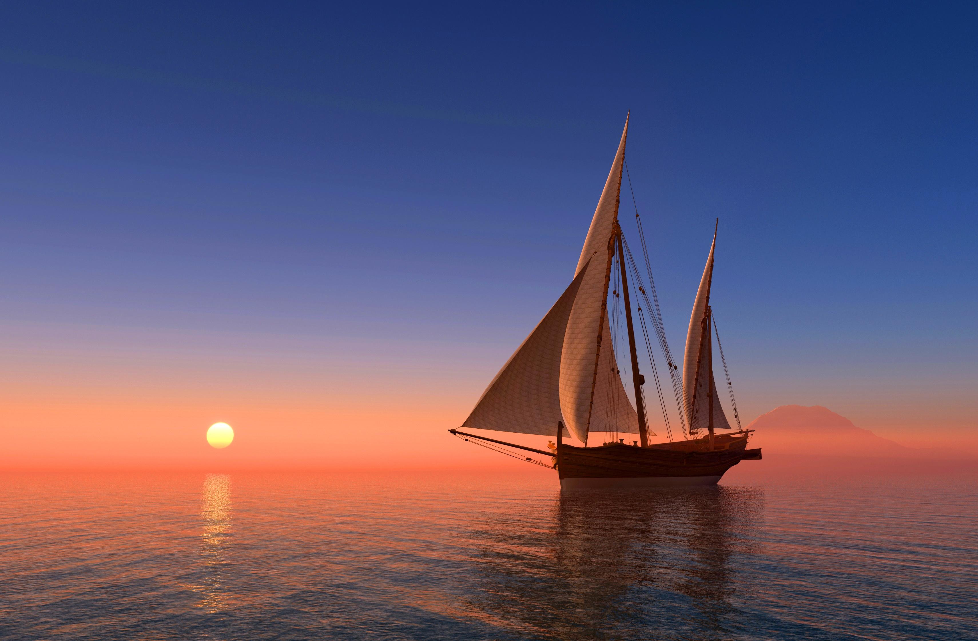 корабли на закате  № 3504113 загрузить