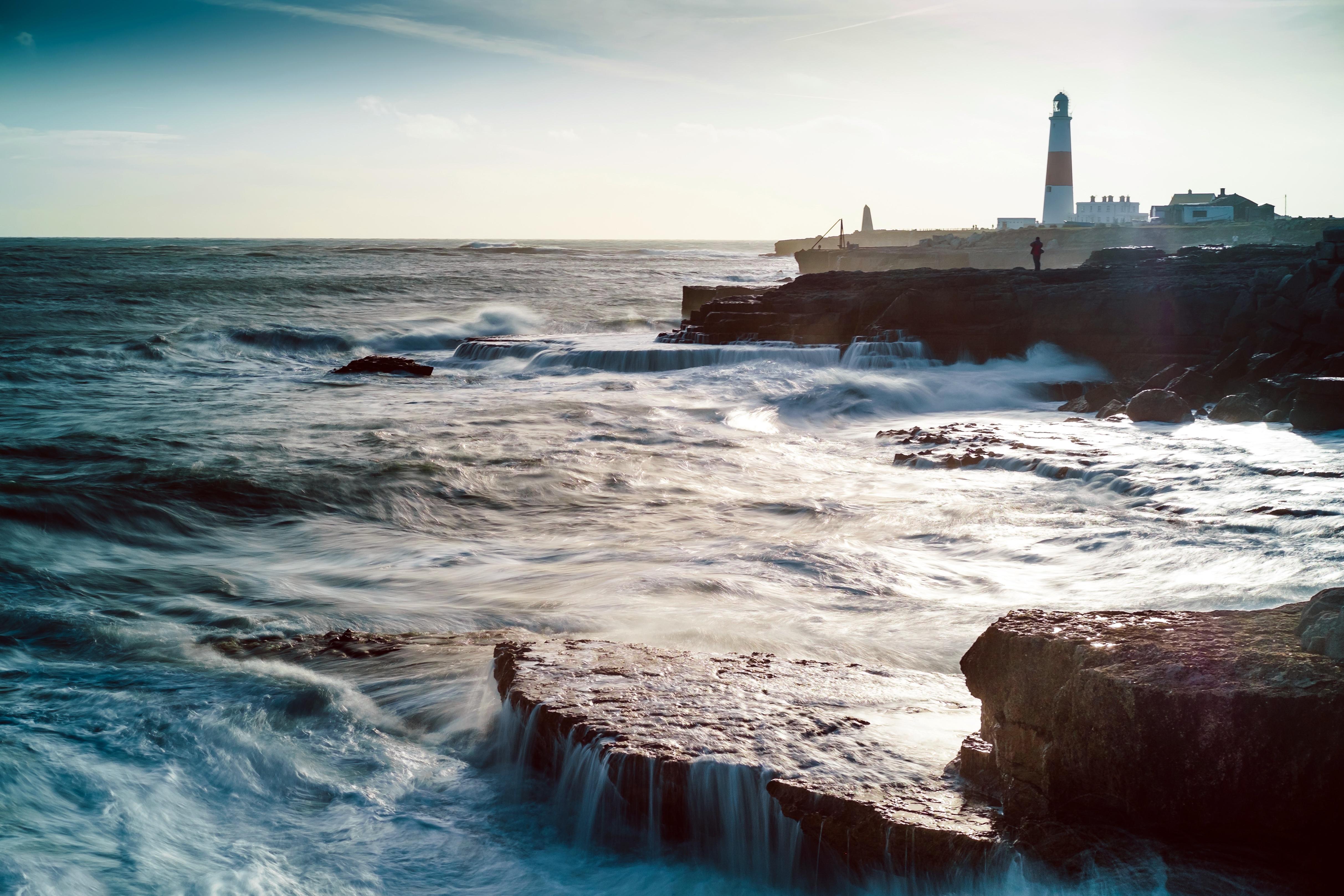 маяк море берег lighthouse sea shore  № 2220782 без смс