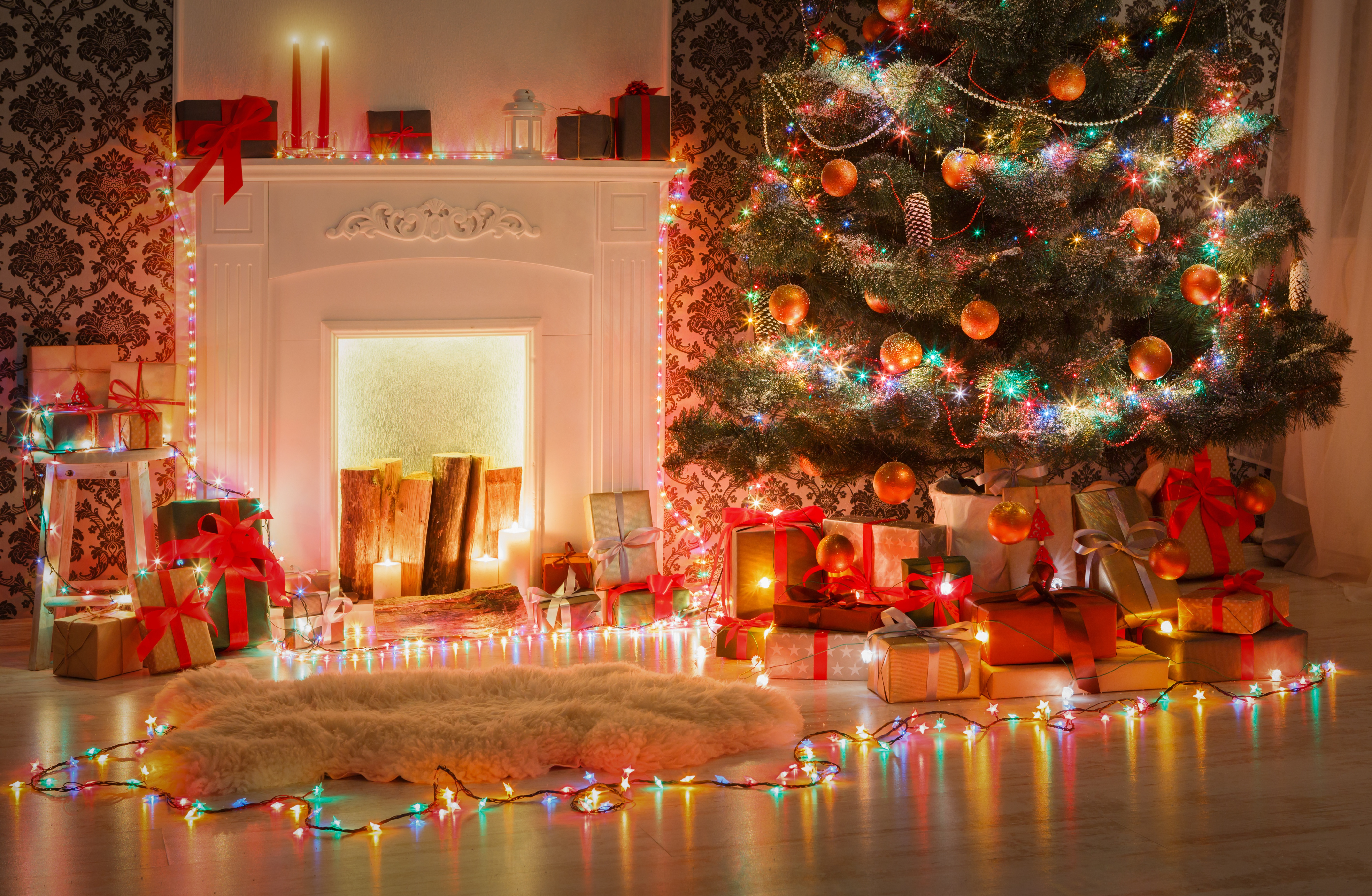 Download wallpaper xmas new year gifts interior merry for Interior decoration for new year