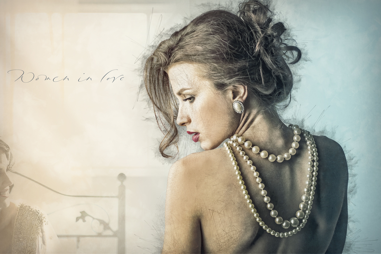 девушка бусы волосы  № 1818059 без смс