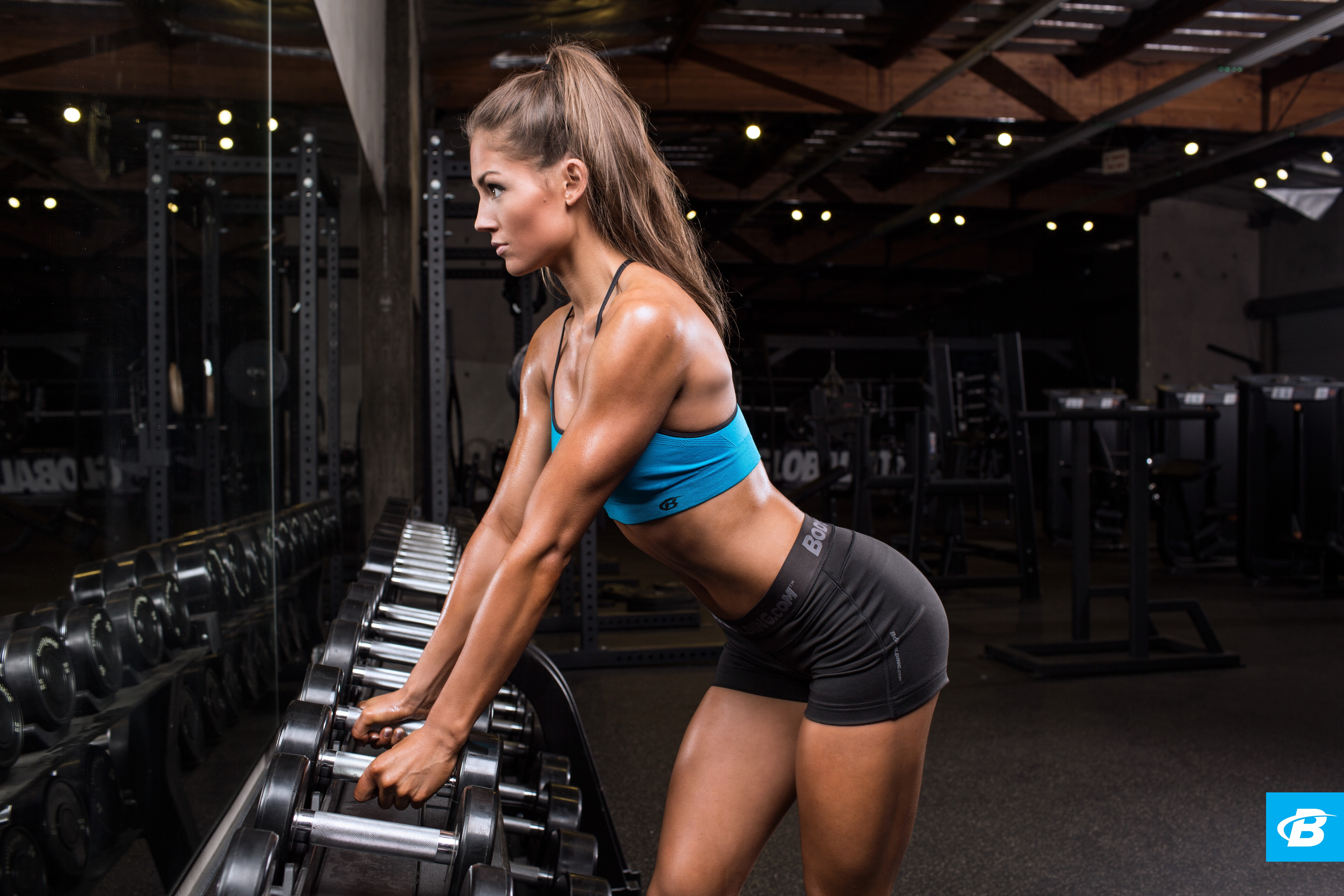 Hot girl gym workout sam's health and fitness