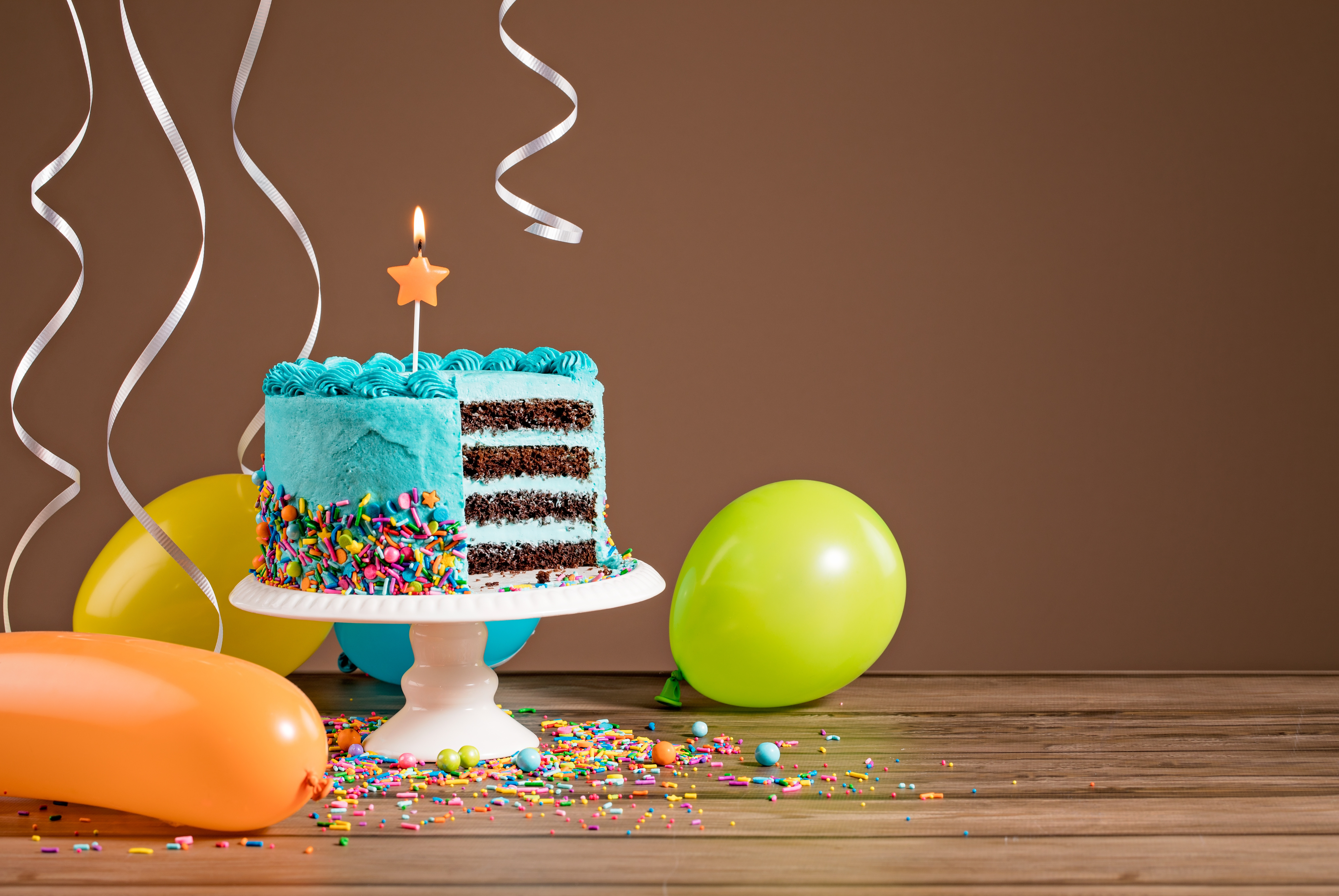 Image Of Balloons And Cake