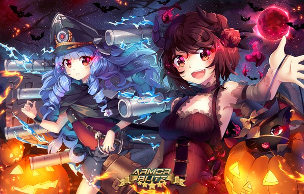 Picture girls, art, halloween, costumes, squadra, armor blitz