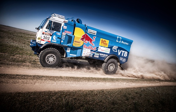 Picture Sport, Speed, Truck, Race, Master, Russia, Kamaz, KAMAZ, Best, Master, Redbull, The great steppe-the don