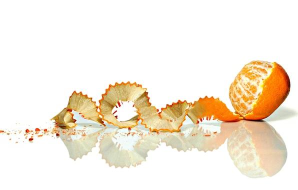 Picture fruit, shell, Mandarin