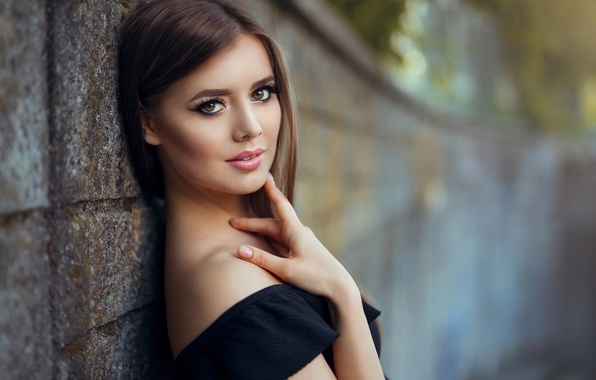 Wallpaper Look Wall Model Portrait Makeup Hairstyle