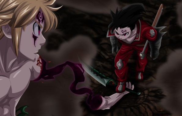 Photo Wallpaper Anime Bakemono Oni Blade Demon Shounen Sword
