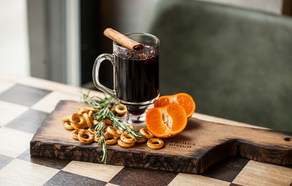 Picture citrus, drink, cinnamon, carnation, drying