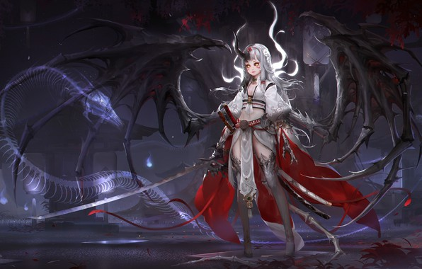 Picture anime, warrior, fantasy, art
