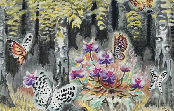 Picture 1962, A Dream of Butterflies, Charles Ephraim Burchfield