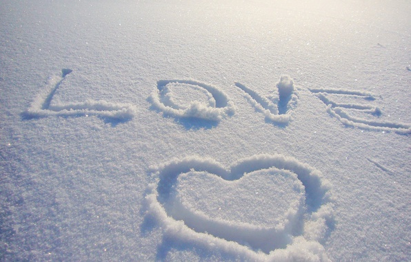 Picture winter, snow, love