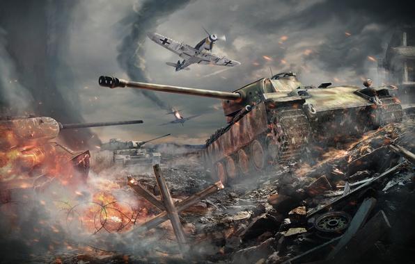 Picture Fighter, Aviation, Tanks, Panther, War Thunder, Gaijin Entertainment