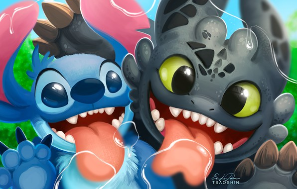 Photo Wallpaper Lilo Stitch Cartoon Kawaii Crossover How To