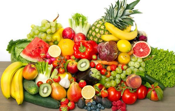 Picture berries, raspberry, lemon, watermelon, kiwi, blueberries, strawberry, grapes, bananas, pepper, fruit, pineapple, vegetables, peaches, plum, …