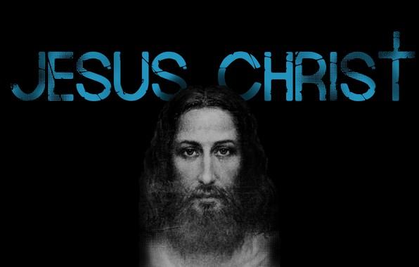 Photo Wallpaper Desktop Black Jesus Christ Shroud