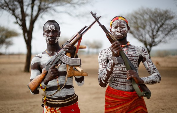 Picture weapons, army, soldiers, Ethiopia