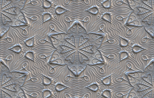 Picture flowers, grey, background, pattern, texture, ornament, texture, gray, metalic