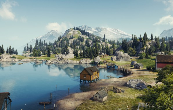 Picture map, World of Tanks, Pacific Beach, Serene Coast