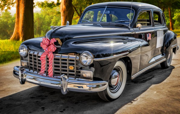 Picture Dodge, Sedan, Custom, 1946, D24