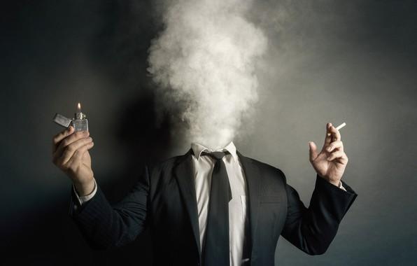 Picture smoke, people, lighter, cigarette