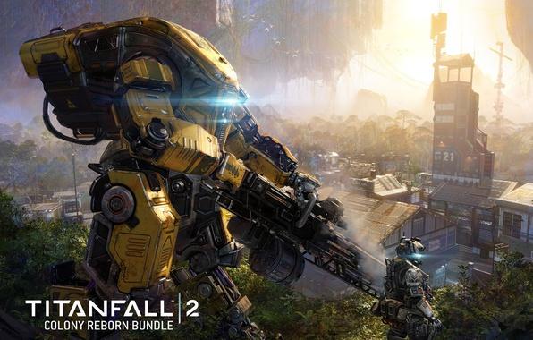 Picture gun, game, robot, mecha, weapon, Titanfall, Titan, Titanfall 2, Colony Reborn Dlc