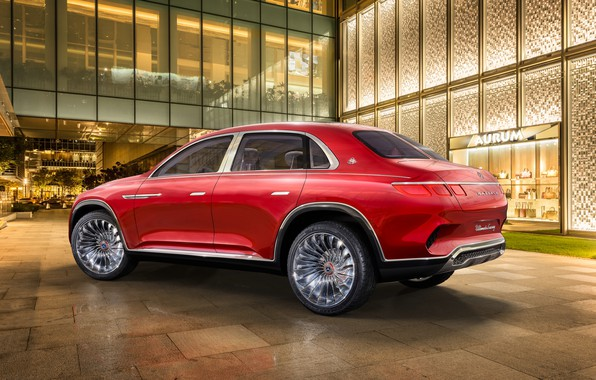 Picture Mercedes-Benz, Vision, Maybach, rear view, 2018, Mercedes-Maybach, electrocreaser, Ultimate Luxury