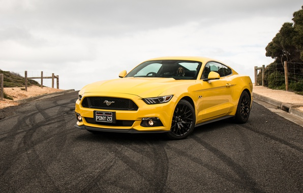 Picture yellow, Mustang, Ford, Mustang, Ford