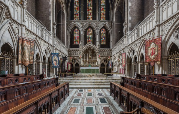 Photo wallpaper Kilburn Interior, St Augustine's Church, Diliff, London, UK