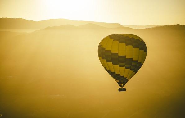 Picture the sun, balloon, horizon