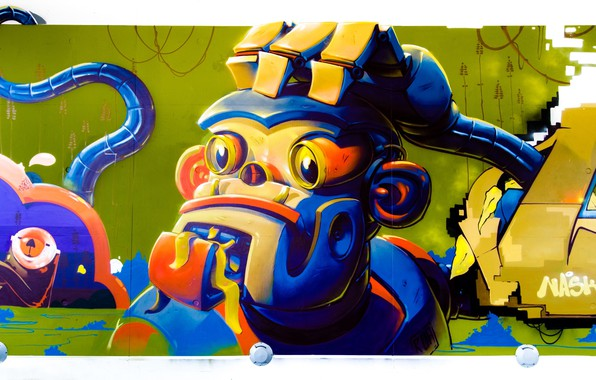 Picture wall, graffiti, figure, art