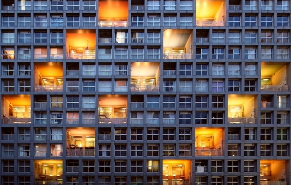 Picture light, the city, the building, Windows, architecture