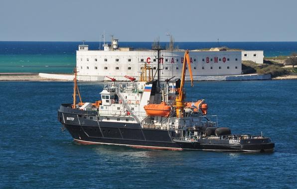 Picture tug, Navy, sea, lifeguard, Miner, The black sea, Sevastopol, auxiliary