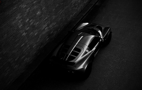 Picture night, Lotus, sports car, Requires, Lotus Exige, black and white photo