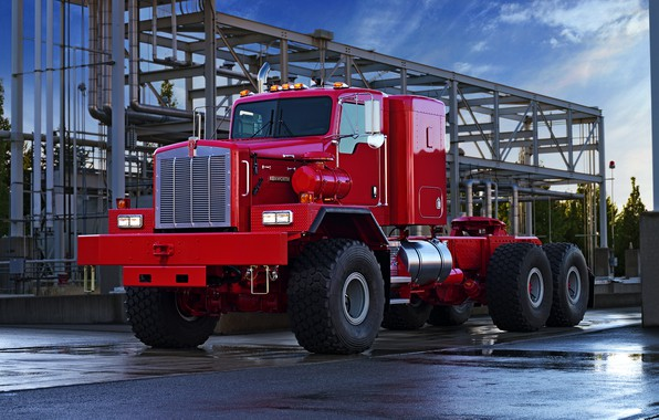Picture red, pipe, truck, design, tractor, Kenworth, C500, 963