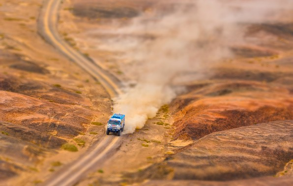 Photo wallpaper The roads, Sport, Speed, Beauty, Silk Way, Silk road, Russia, Best, RedBull, Race, Rally, KAMAZ, ...