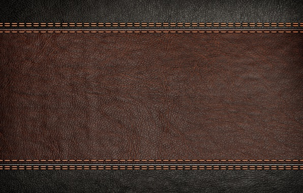 Photo wallpaper brown, texture, leather, background