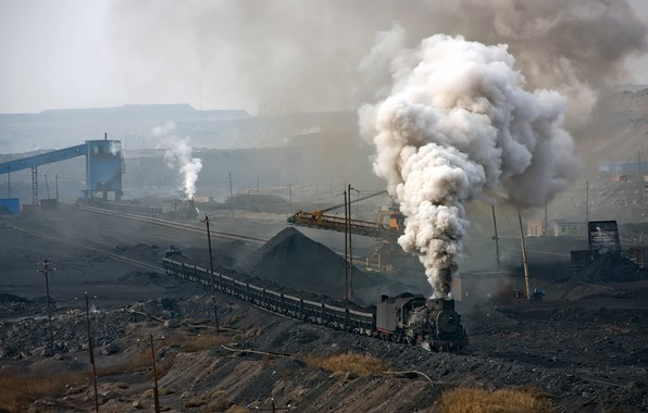 Picture the engine, coal, quarry