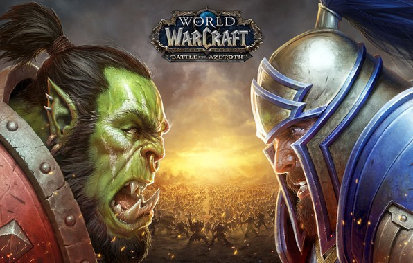 Picture World of Warcraft, human, orc, Horde, Alliance, Battle for Azeroth