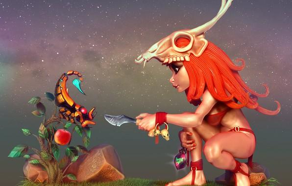 Picture mask, Scorpio, shaman, yaroslav k, Little hunter.