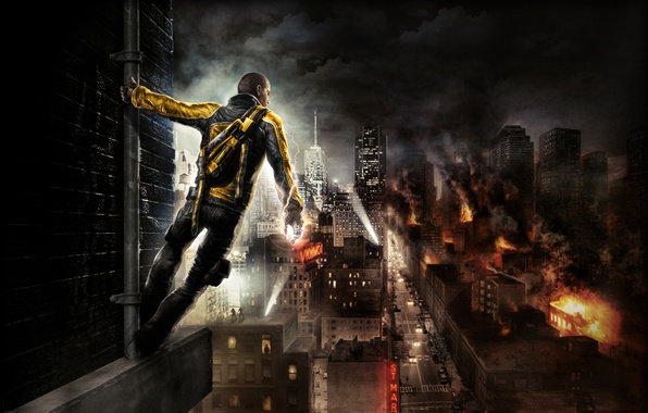 Photo wallpaper Sony Computer Entertainment, inFAMOUS, Game, Sucker Punch Productions